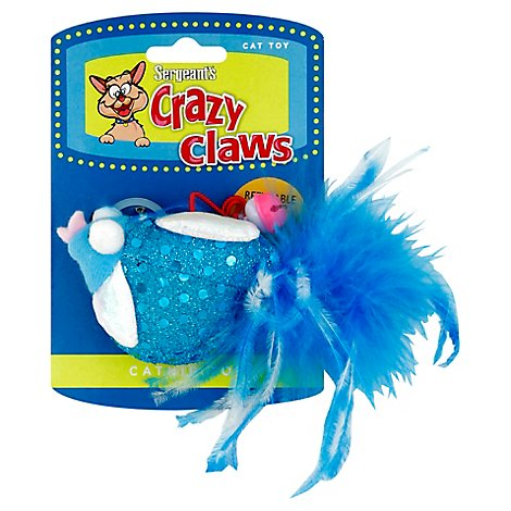 Sergeants Cat Toy Crazy Claws Owl Refillable Catnip - Each