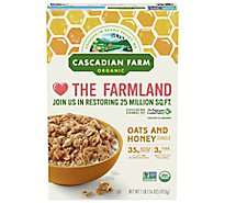 Cascadian Farm Organic Granola Oats and Honey - 16 Oz