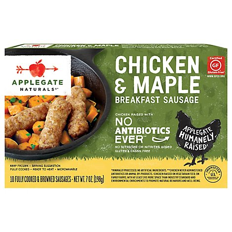 Applegate Natural Chicken & Maple Breakfast Sausage Frozen - 7oz
