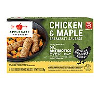 Applegate Naturals Breakfast Sausage Chicken & Maple 10 Count - 7 Oz