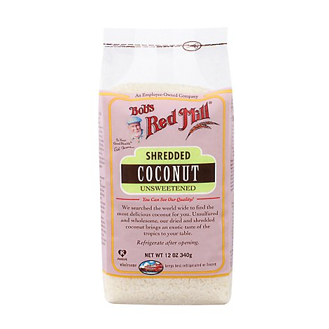 Bobs Red Mill Shredded Coconut Unsweetened - 12 Oz