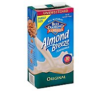 Blue Diamond Almond Breeze Almondmilk Unsweetened Original Family Size - 64 Fl. Oz.