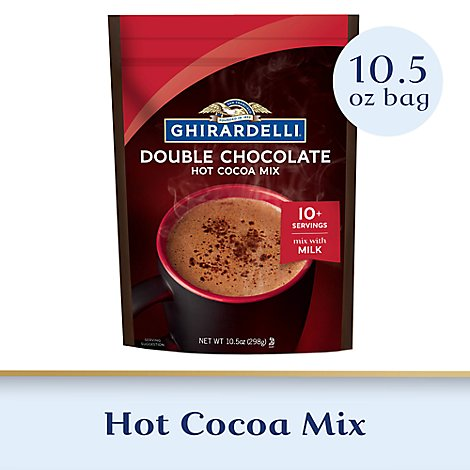 Ghirardelli Chocolate Cocoa Mix Hot Premium Double Chocolate - 10.5 Oz
