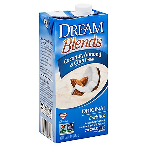 Dream Blends Coconut Almond & Chia Drink Enriched Original - 32 Fl. Oz.
