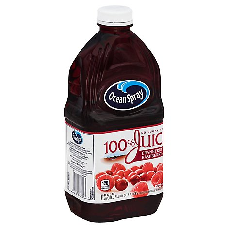 Ocean Spray 100% Juice Drink No Sugar Added Cranberry Raspberry - 60 Fl. Oz.