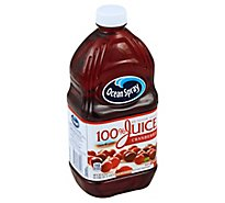 Ocean Spray 100% Juice Drink No Sugar Added Cranberry Bottle - 60 Fl. Oz.