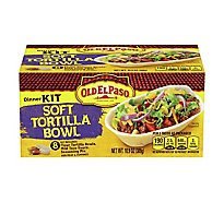 Old El Paso Tortillas Flour Taco Boats Soft Tortillas Dinner Kit Box 8 Count - 10.9 Oz