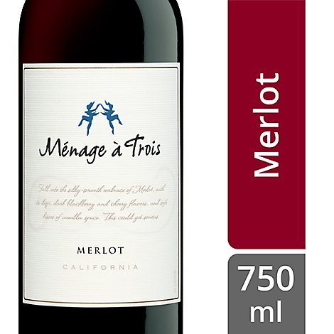 Menage a Trois Wine Merlot California - 750 Ml