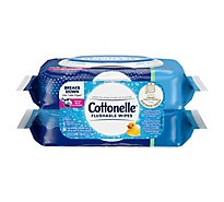Cottonelle Flushable Wet Wipes Fliptop Pack - 84 Count