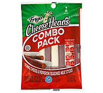 Frigo Cheese Heads String Cheese & Pepperoni Flavores Meat Sticks - 8 Count