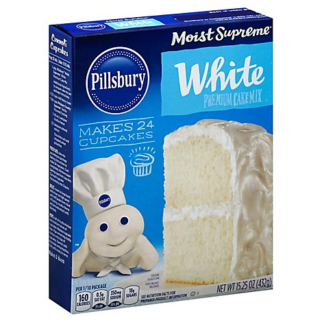 Pillsbury Moist Supreme Cake Mix Premium White - 15.25 Oz