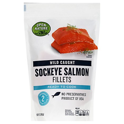 Open Nature Salmon Sockeye Fillet Wild Caught - 12 Oz