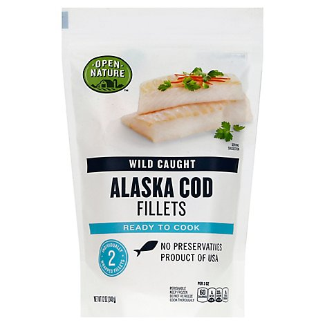 Open Nature Alaska Cod Fillet Wild Caught - 12 Oz