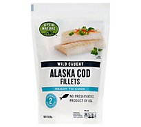 Open Nature Fish Wild Caught Cod Pacific Fillet Frozen - 12 Oz