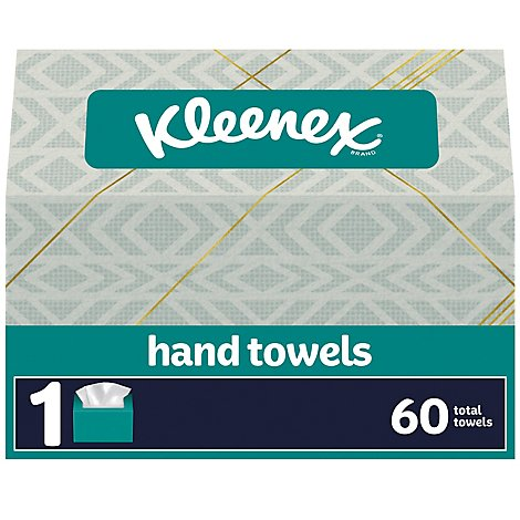 Kleenex Hand Towels 1-Ply White Box - 60 Count