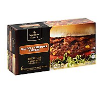 Signature SELECT Premium Angus Beef Patties Bacon And Cheddar Cheese - 32 Oz