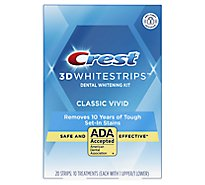 Crest 3D White Whitestrips Dental Whitening Kit Classic Vivid - 12 Count