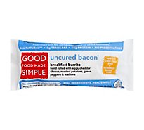 Good Food Made Simple Breakfast Burrito Uncured Bacon - 5 Oz