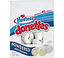 Hostess Donettes Mini Donuts Powdered - 10 Oz