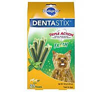PEDIGREE DentaStix Dog Treats Fresh Small Box 21 Count - 5.26 Oz