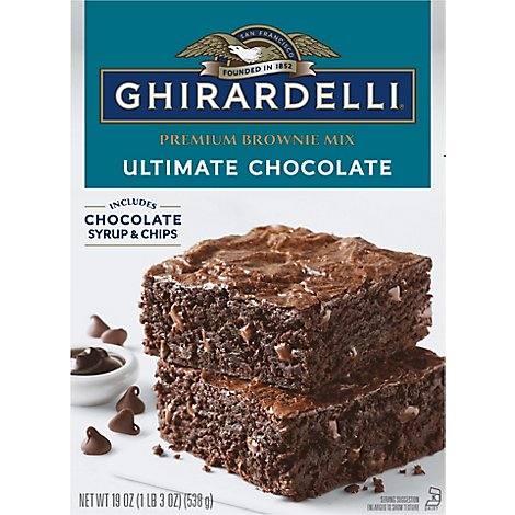 Ghirardelli Brownie Mix Triple Fudge - 19 Oz