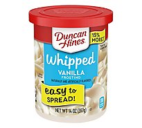 Duncan Hines Whipped Frosting Vanilla - 14 Oz