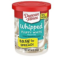 Duncan Hines Whipped Frosting Fluffy White - 14 Oz