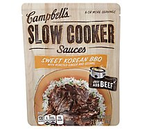 Campbells Sauces Slow Cooker Sweet Korean BBQ Pouch - 13 Oz