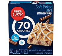 Fiber One Baked Bars 90 Calories Cinnamon Coffee Cake - 6-0.89 Oz