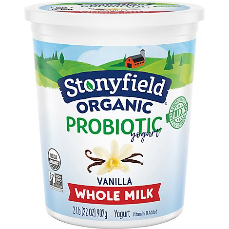 Stonyfield Farm Organic Yogurt Whole Milk French Vanilla - 32 Oz