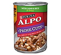 ALPO Prime Cuts Dog Food With Lamb & Rice In Gravy Can - 13.2 Oz