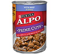 ALPO Prime Cuts Dog Food With Beef In Gravy Can - 13.2 Oz