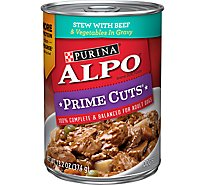 ALPO Prime Cuts Dog Food Stew With Beef & Vegetables In Gravy Can - 13.2 Oz