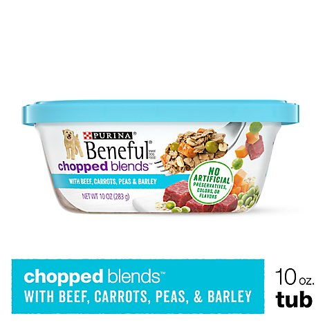 Beneful Chopped Blends Dog Food With Beef Carrots Peas & Barley Can - 10 Oz