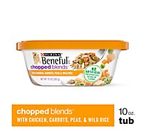 Beneful Chopped Blends Dog Food With Chicken Carrots Peas & Wild Rice Can - 10 Oz