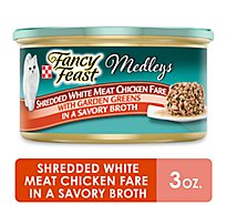 Fancy Feast Cat Food Wet Medleys White Meat Chicken Fare - 3 Oz
