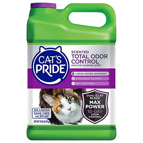 Cats Pride Cat Multi Clumping Litter Scented Total Odor Contol - 15 Lb