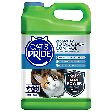 Cats Pride Cat Multi Clumping Litter Unscented Total Odor Control - 15 Lb