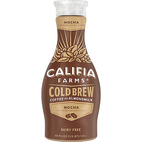 Califia Farms Coffee With Almondmilk Cold Brew Mocha - 48 Fl. Oz.