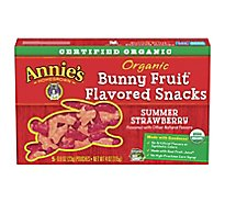 Annies Homegrown Organic Fruit Snacks Bunny Summer Strawberry - 5-0.8 Oz