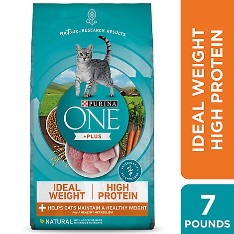 Purina One Cat Food Dry Turkey - 7 Lb