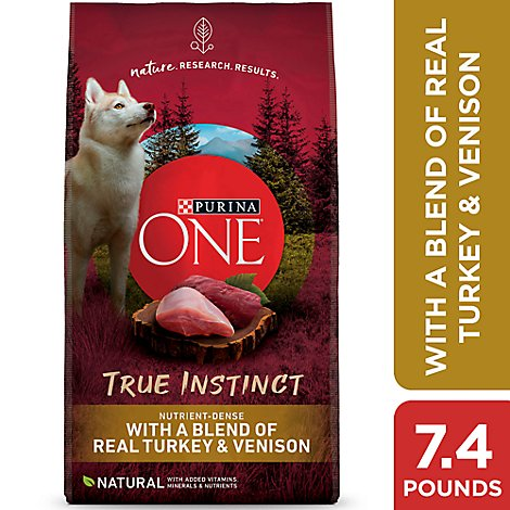 One Dog Food Dry Smartblend Turkey & Venison - 7.4 Lb