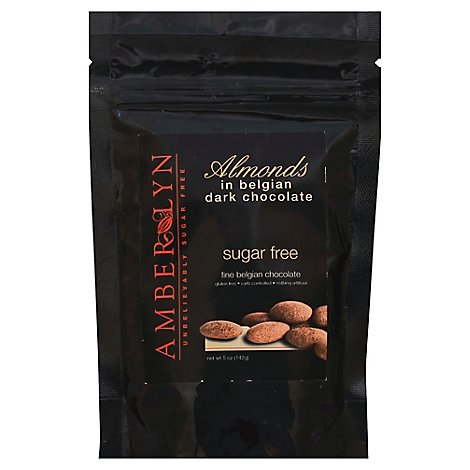 Amber Lyn Sugar Free Almonds Dark Chocolate - 5 Oz