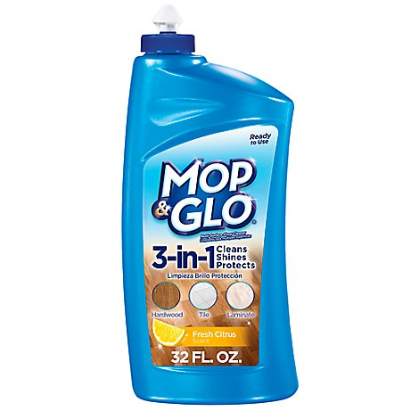 MOP & GLO Multi-Surface Floor Cleaner One Step Fresh Citrus Scent - 32 Fl. Oz.