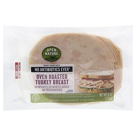 Open Nature Turkey Breast Oven Roasted - 6 Oz