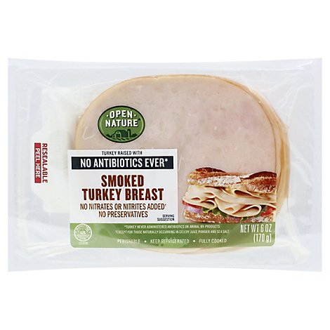 Open Nature Turkey Breast Smoked - 6 Oz