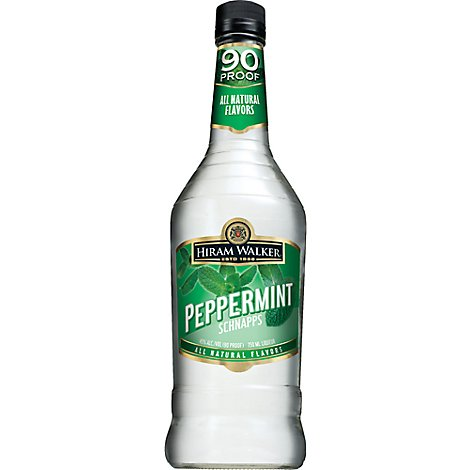 Hiram Walker Schnapps Peppermint 90 Proof - 750 Ml