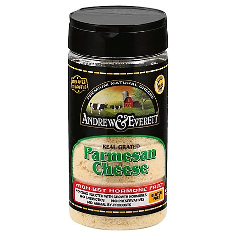 Andrew & Everett Cheese Parmesan Grated - 7 Oz