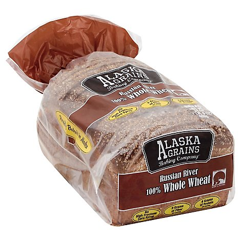 Alaska Grains Baking Co 100% Whole Wheat Bread - 24 Oz