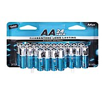Signature SELECT Batteries Alkaline AA Guaranteed Long Lasting - 24 Count